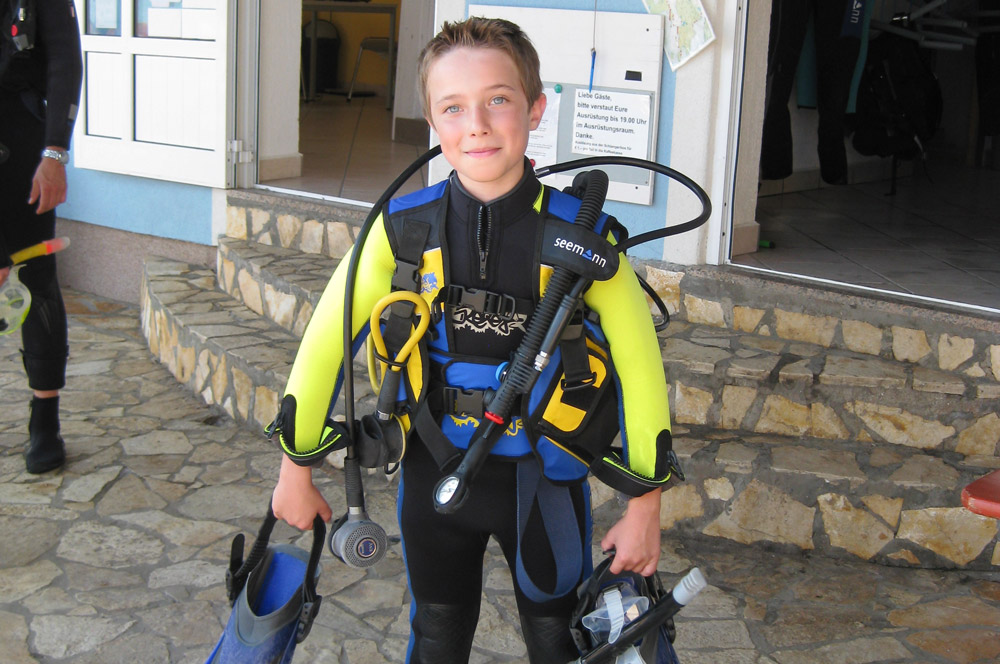 Children diving | DIVE CENTER KRK | Croatia