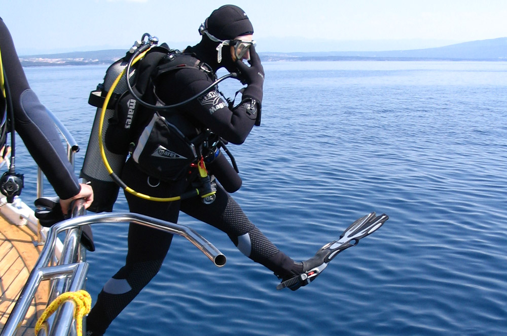 Full day scuba diving trips to the islands of Krk, Cres, Plavnik and Prvic